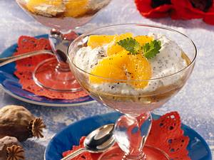 Mohn-Quark-Creme mit Mandarinen Rezept