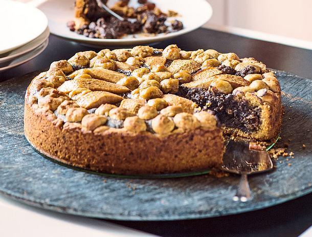 Mohn-Streuselkuchen mit Birne Rezept