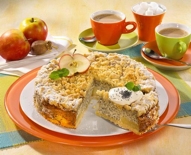 Mohnkuchen mit Butterstreuseln Rezept