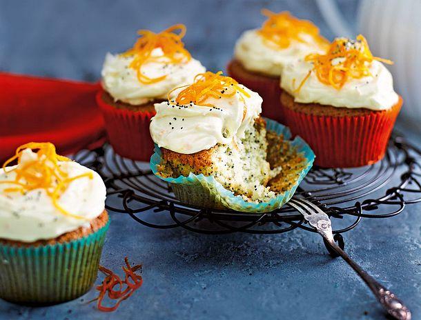 Mohnmuffins mit Orangenfrosting Rezept