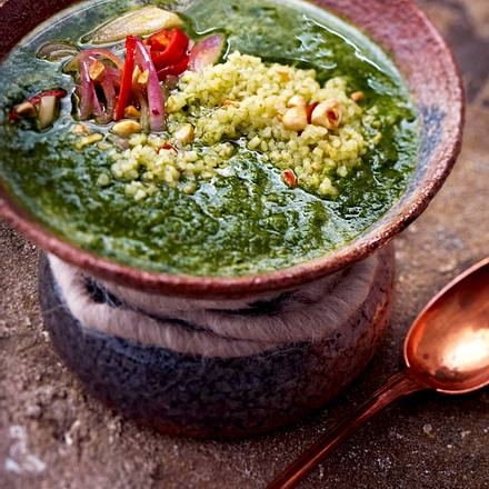 Molokhia-Suppe Rezept