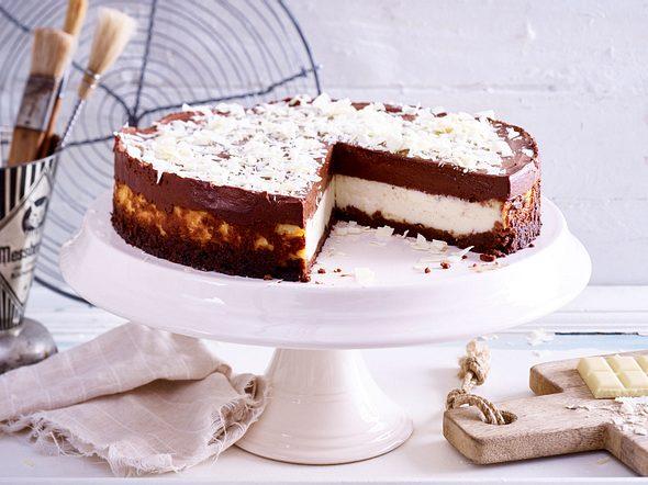 Mousse au Chocolat-Käsekuchen Rezept