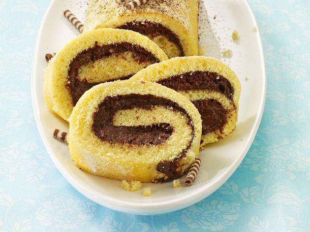 Mousse au Chocolat-Rolle Rezept