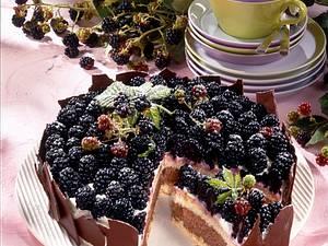 Mousse au Chocolat-Torte mit Brombeeren Rezept