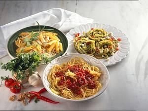 Mozzarella-Spinatsoße zu Bandnudeln Rezept