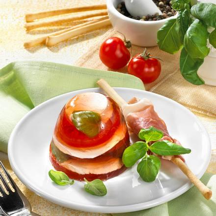 Mozzarella-Tomaten-Terrine Rezept
