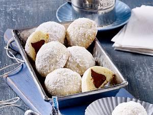 Mürbeteig-Kekse mit Schokokern Rezept