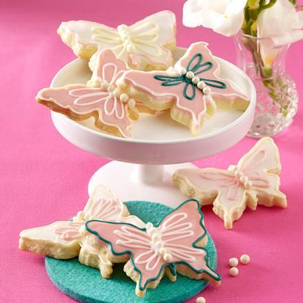 Mürbeteig-Schmetterlinge Rezept | LECKER