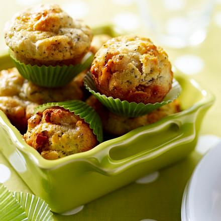 Muffin mit Chorizo und Mohn Rezept