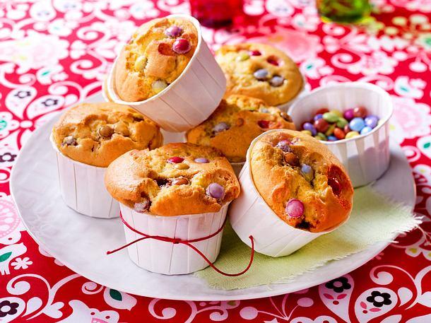 Muffins mit bunten Schokolinsen Rezept