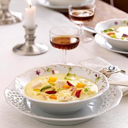 Mulligatawny Soup (Indische Currysuppe mit Hähnchen, Apfel und Mango) Rezept