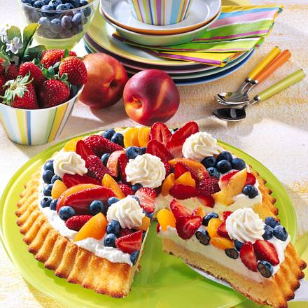Multi-Frucht-Torte mit Mascarpone-Quarkcreme Rezept