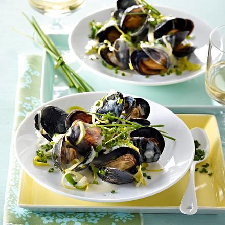 Muscheln in Weißwein-Sahne Rezept