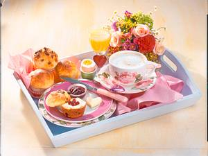 Muttertags-Frühstück mit Muffins Rezept