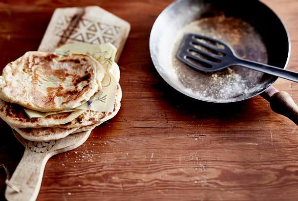 Naan-Brot mit Backpulver Rezept