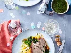 Nackenbraten mit Chimichurri und Röstkartoffelsalat Rezept