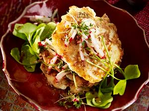 Navetten-Blinis mit Portulak-Salat Rezept