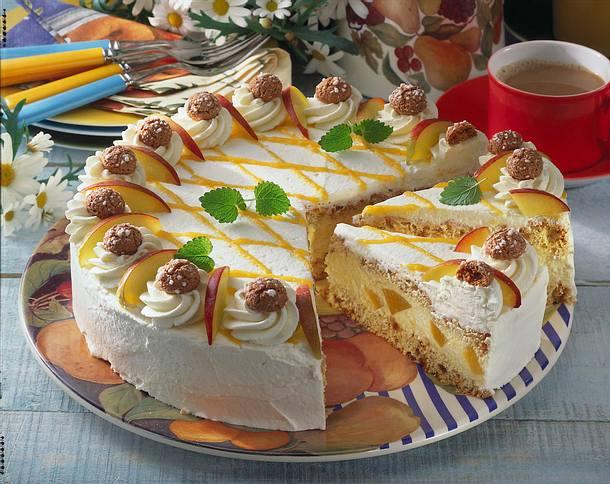 Nektarinen-Amaretto-Torte Rezept