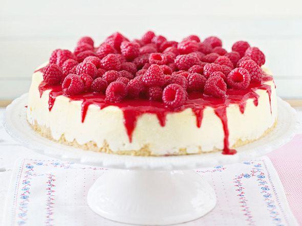 New York Cheesecake mit Himbeeren Rezept
