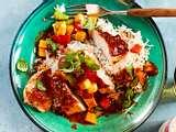 """Nix zu tun""-Huhn in BBQ-Mango-Soße Rezept"