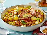 Normannische Koteletts mit Apfel & Porree Rezept
