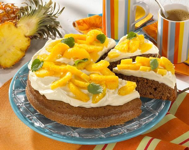 Nougat-Ananas-Kuchen Rezept