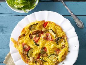 Nudel-Gemüse-Omelett Rezept