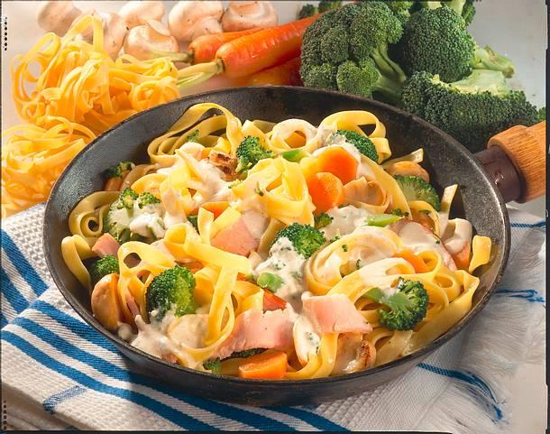 Nudel-Gemüse-Pfanne Rezept