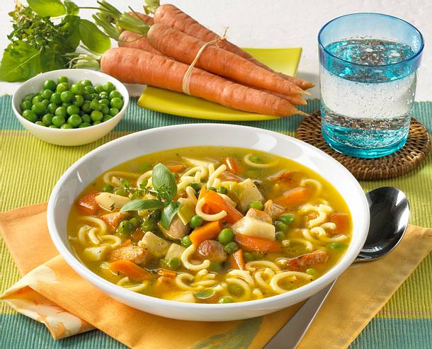 Nudel-Gemüsesuppe mit Putenbrust Rezept