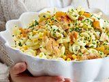 Nudel-Hähnchen-Salat in Currysoße Rezept