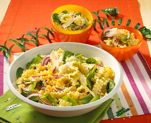 Nudel-Linsen-Salat Rezept