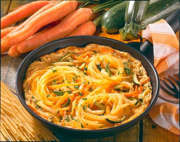 Nudel-Omelette Rezept