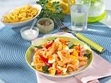 Nudel-Paprika Salat mit Ei (Diabetiker) Rezept