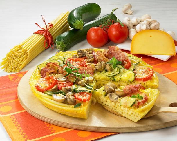 Nudel-Pizza Rezept