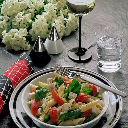 Nudel-Spinat-Salat Rezept