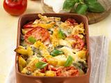 Nudel-Tomaten-Mozzarella-Auflauf Rezept