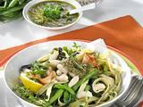Nudeln mit Bohnen und Pesto Rezept