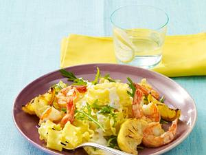 Nudeln mit Garneln in Zitronensoße Rezept