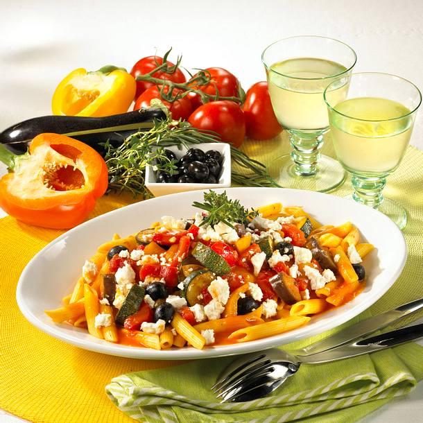 Nudeln mit Ratatouille-Gemüse Rezept