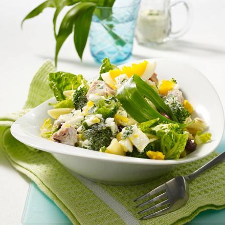 Nudelsalat mit Bärlauchcreme Rezept