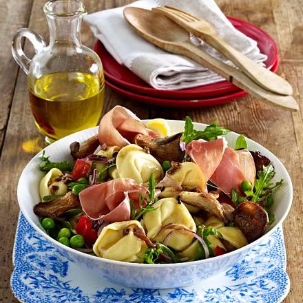 Nudelsalat mit Pilz-Vinaigrette Rezept