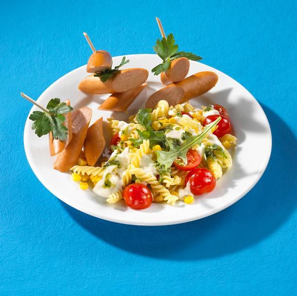 Nudelsalat mit Wiener Würstchen Rezept