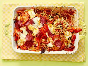 Null-Aufwand-Spaghetti-Gratin Rezept