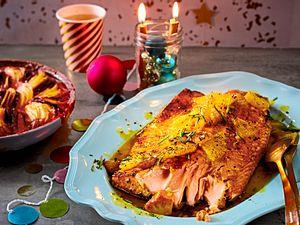 Nur-keinen-Stress-Lachs mit Rote-Bete-Kartoffel-Gratin Rezept