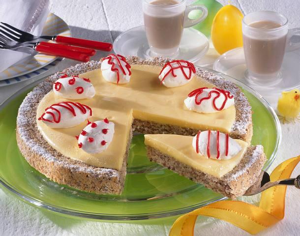 Nuss-Eiercreme-Kuchen Rezept