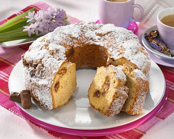 Nuss-Kuchen mit Snickers Rezept