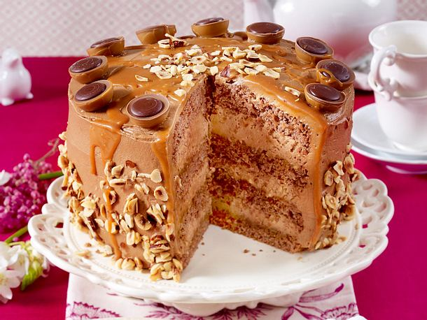 Nougat Toffee Torte Rezept Lecker