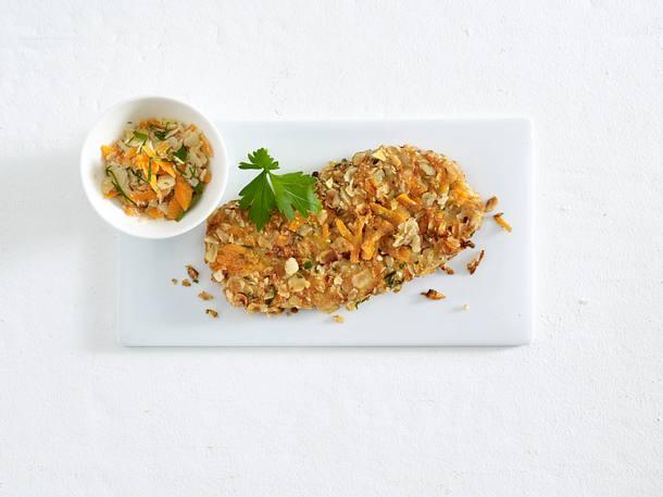 Nuss-Schnitzel zu Kartoffelsalat Rezept