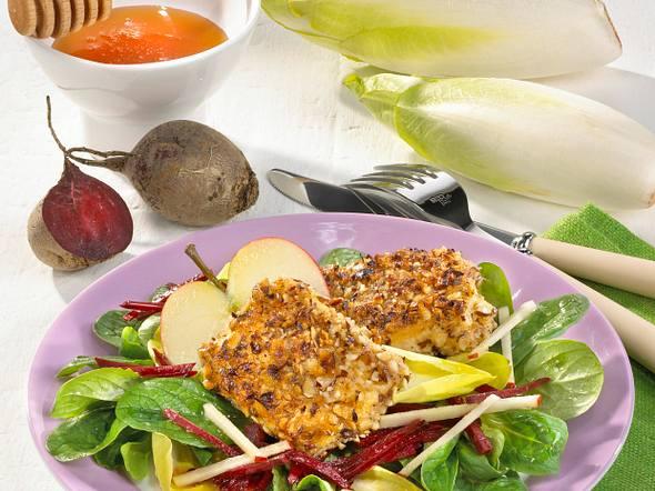Nuss-Tofu auf Rote-Bete-Salat Rezept
