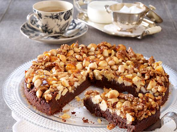 Nussknacker-Tarte mit Schokolade Rezept